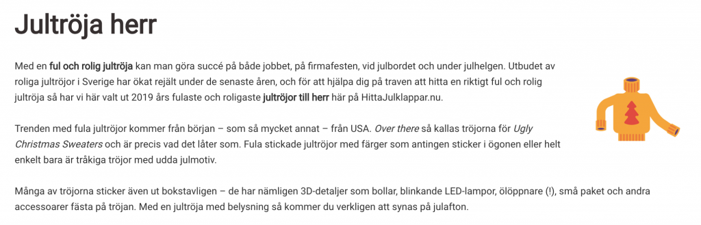 content writing på svenska